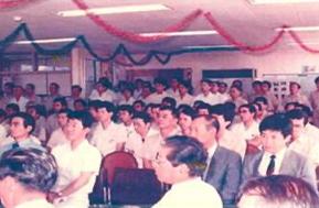 1986 昭和61年 創業50周年、TPM(Total Productive Management)活動キックオフ